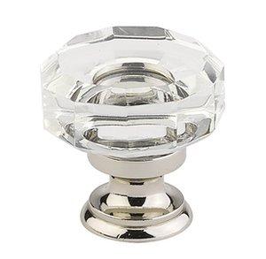 Emtek 86571 Crystal Lowell Cabinet Knob 1-3/8 Inch Diameter