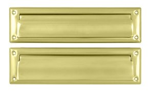 Deltana MS212U 13-1/8 Inch x 3-5/8 Inch Mail Slot with Interior Flap
