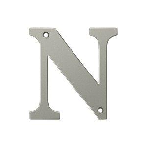 "Deltana RL4N Solid Brass 4 Inch House Letter ""N"""