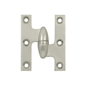Deltana OK2520-R 2-1/2 Inch x 2 Inch Solid Brass Olive Knuckle Hinge - Right Handed