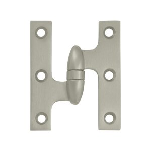 Deltana OK3025B-L 3 Inch x 2-1/2 Inch Solid Brass Olive Knuckle Hinge - Left Handed