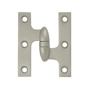 Deltana OK3025B-R 3 Inch x 2-1/2 Inch Solid Brass Olive Knuckle Hinge - Right Handed
