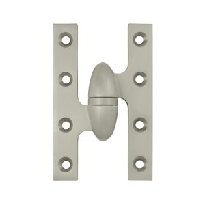 Deltana OK5032B-L 5 Inch x 3-1/4 Inch Solid Brass Olive Knuckle Hinge - Left Handed