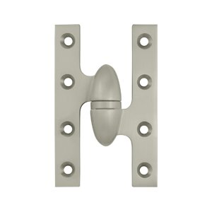 Deltana OK5032B-R 5 Inch x 3-1/4 Inch Solid Brass Olive Knuckle Hinge - Right Handed