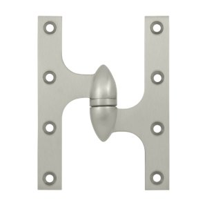 Deltana OK6045B-R 6 Inch x 4-1/2 Inch Solid Brass Olive Knuckle Hinge - Right Handed