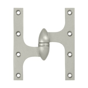 Deltana OK6050B-L 6 Inch x 5 Inch Solid Brass Olive Knuckle Hinge - Left Handed