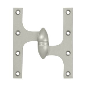 Deltana OK6050B-R 6 Inch x 5 Inch Solid Brass Olive Knuckle Hinge - Right Handed