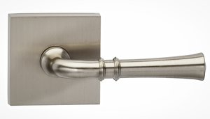 Omnia 785SQPR Privacy Leverset with Square Rosette From the Prodigy Collection