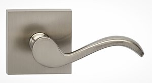 Omnia 895SQSD Single Dummy Lever with Square Rosette From the Prodigy Collection