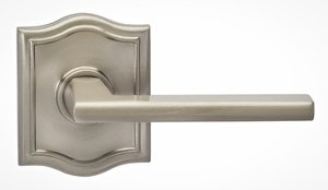 Omnia 925ARSD Single Dummy Lever with Arched Rosette From the Prodigy Collection