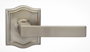 Omnia 930ARSD Single Dummy Lever with Arched Rosette From the Prodigy Collection