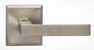 Omnia 930RTPR Privacy Leverset with Rectangular Rosette From the Prodigy Collection