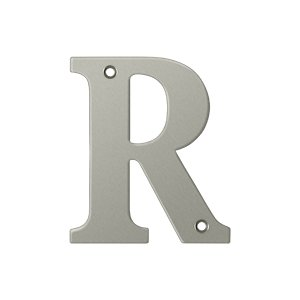 """Deltana RL4R Solid Brass 4 Inch House Letter """"R"""""""