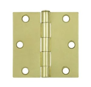 Deltana S33-R Residential 3 Inch x 3 Inch Steel Hinge with Square Corners
