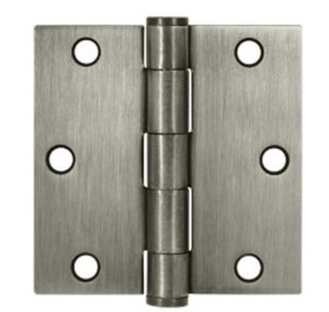 Deltana S35HD Heavy Duty 3-1/2 Inch x 3-1/2 Inch Steel Hinge with Square Corners (Sold in Pairs)