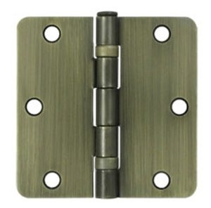 Deltana S35R4BB Residential Ball Bearing 3-1/2 Inch x 3-1/2 Inch Steel Hinge with 1/4 Inch Radius Corners (Sold in Pairs)