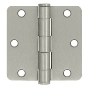 Deltana S35R4HD Heavy Duty 3-1/2 Inch x 3-1/2 Inch Steel Hinge with 1/4 Inch Radius Corners (Sold in Pairs)
