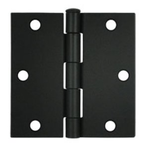 Deltana S35-R Residential 3-1/2 Inch x 3-1/2 Inch Steel Hinge with Square Corners (Sold in Pairs)