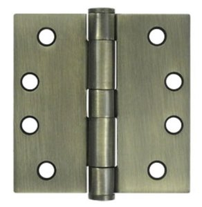 Deltana S44HD Heavy Duty 4 Inch x 4 Inch Steel Hinge with Square Corners (Sold in Pairs)