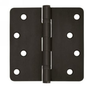Deltana S44R4BB Residential Ball Bearing 4 Inch x 4 Inch Steel Hinge with 1/4 Inch Radius Corners (Sold in Pairs)