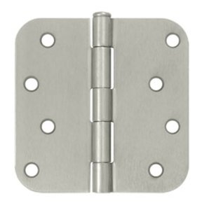 Deltana S44R5 Residential 4 Inch x 4 Inch Steel Hinge with 5/8 Inch Radius Corners (Sold in Pairs)