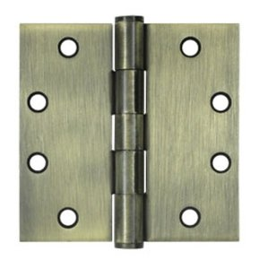 Deltana S45 Heavy Duty 4-1/2 Inch x 4-1/2 Inch Steel Hinge with Square Corners (Sold in Pairs)