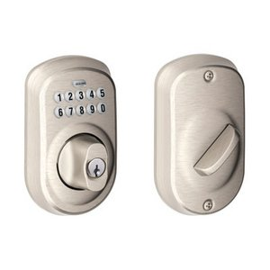 Schlage BE365 PLY Plymouth Single Cylinder Electronic Keypad Deadbolt