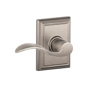 Schlage F10ACC/ADD Accent Passage Leverset with Addison Decorative Rosette