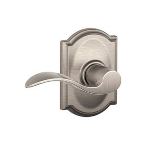 Schlage F10ACC/CAM Accent Passage Leverset with Camelot Decorative Rosette