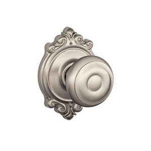 Schlage F10GEO/BRK Georgian Passage Knobset with Brookshire Decorative Rosette