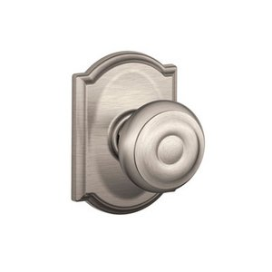 Schlage F10GEO/CAM Georgian Passage Knobset with Camelot Decorative Rosette