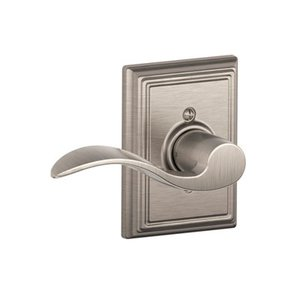 Schlage F170ACC/ADD RH Accent Single Dummy Right Handed Lever with Addison Decorative Rosette