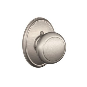 Schlage F170AND/WKF Andover Single Dummy Knob with Wakefield Decorative Rosette