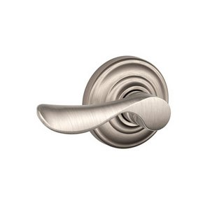 Schlage F170CHP/AND LH Champagne Single Dummy Left Handed Lever with Andover Decorative Rostte
