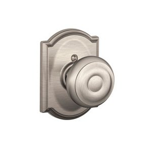 Schlage F170GEO/CAM Georgian Single Dummy Knob with Camelot Decorative Rosette