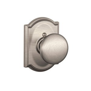 Schlage F170PLY/CAM Plymouth Single Dummy Knob with Camelot Decorative Rosette