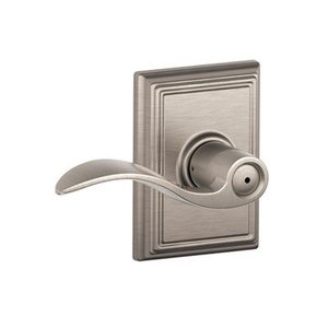 Schlage F40ACC/ADD Accent Privacy Leverset with Addison Decorative Rosette