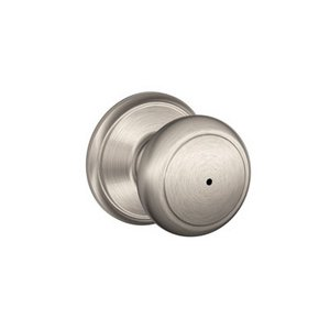 Schlage F40AND Andover Privacy Knobset