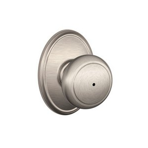 Schlage F40AND/WKF Andover Privacy Knobset with Wakefield Decorative Rosette