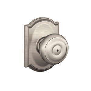 Schlage F40GEO/CAM Georgian Privacy Knobset with Camelot Decorative Rosette