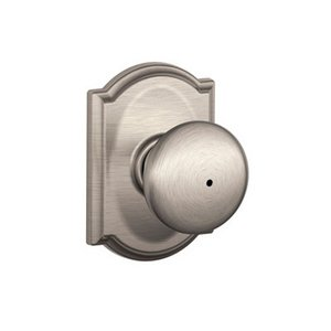 Schlage F40PLY/CAM Plymouth Privacy Knobset with Camelot Decorative Rosette