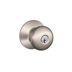 Schlage F51PLY Plymouth Keyed Entry Knobset