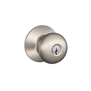 Schlage F80PLY Plymouth Storeroom Knobset