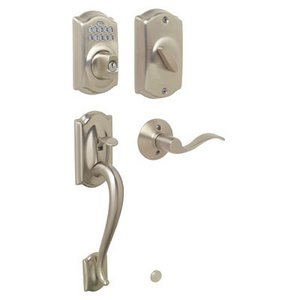 Schlage FE365 CAM/ACC Camelot Electronic Single Cylinder Handleset with Accent Lever
