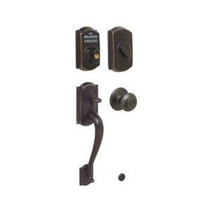 Schlage FE365 CAM/GEO Camelot Electronic Single Cylinder Handleset with Georgian Knob