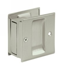 Deltana SDP25U Solid Brass Passage Pocket Door Lock