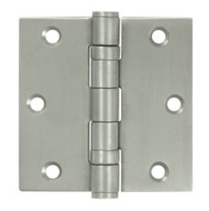 Deltana SS35B Ball Bearing 3-1/2 Inch x 3-1/2 Inch Stainless Steel Hinge with Square Corners (Sold in Pairs)
