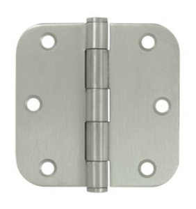 Deltana SS35R5-R Residential 3-1/2 Inch x 3-1/2 Inch Stainless Steel Hinge with 5/8 Inch Radius Corners (Sold in Pairs)
