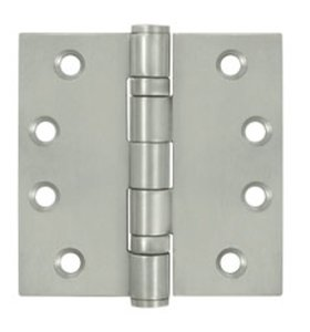 Deltana SS44B Ball Bearing 4 Inch x 4 Inch Stainless Steel Hinge with Square Corners (Sold in Pairs)