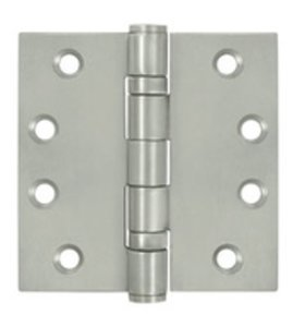 Deltana SS45B Ball Bearing 4-1/2 Inch x 4-1/2 Inch Stainless Steel Hinge with Square Corners (Sold in Pairs)